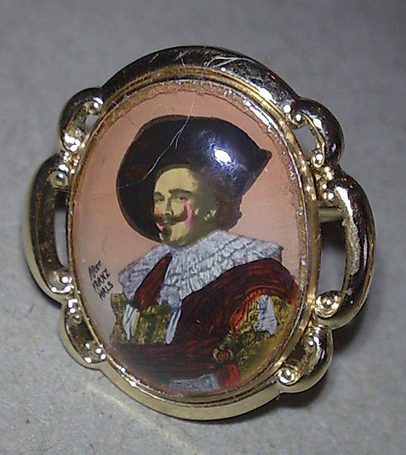 Vintage Cufflinks The Laughing Cavalier After Franz Hals